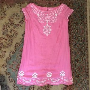 Lilly Pulitzer Gorgeous Pink Linen Beaded Shift 2
